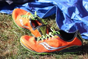 Try out new gear, such as spikes or racing flats, before race day.